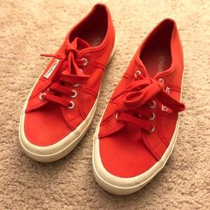 SUPERGA Red Shoes Size 8